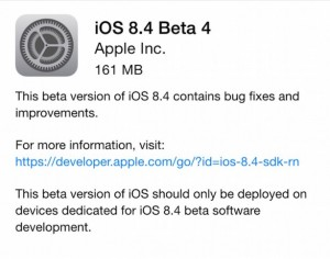 download iOS 8.4 beta 4