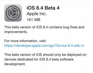 download iOS 8.4 beta 4