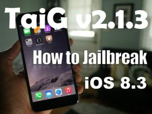 jailbreak ios 8.3 taig