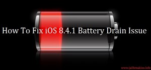ios 8.4.1 battery drain issue