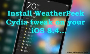 WeatherPeek iOS 8.4
