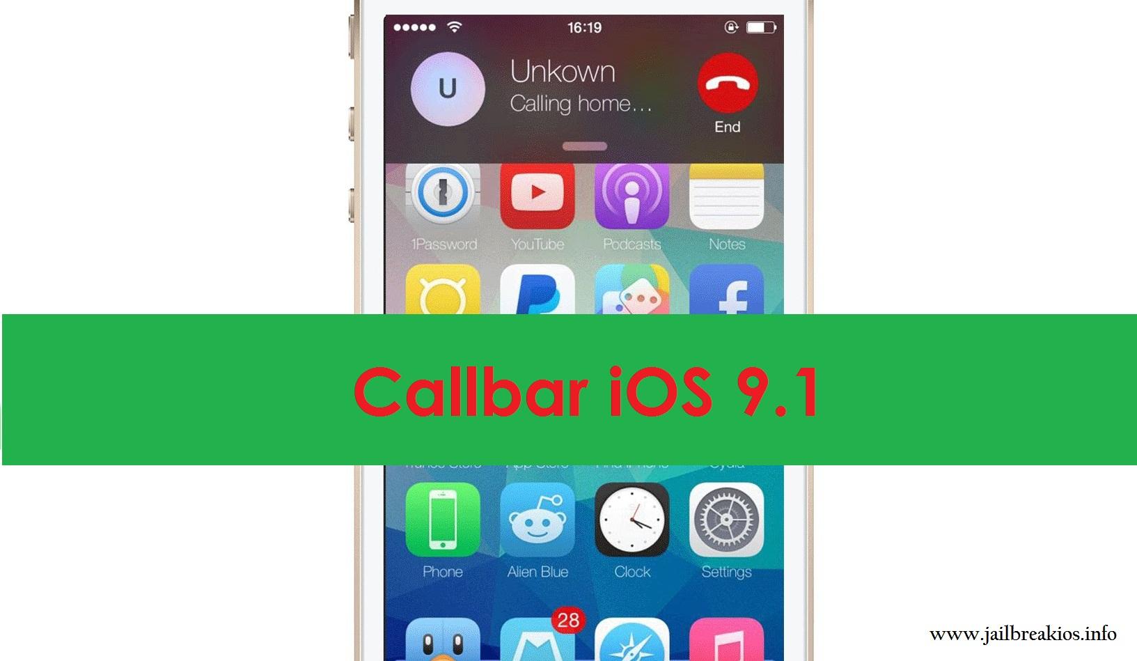 Callbar iOS 9.1